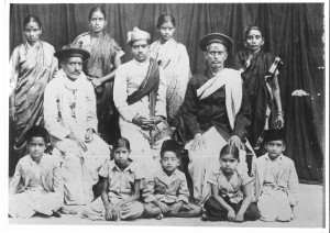 Family photo of Pandits of Gwalior.