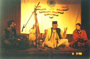 Performing in Moscow on the 50th Year Celebration of India's Independence